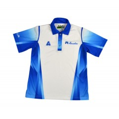 Henselite Mens Tournament Polo - Blue/White