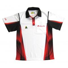 Henselite Mens Tournament Polo - Red/Black/White